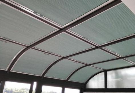 [好选择]阳光房顶部遮阳就选蜂巢天棚帘