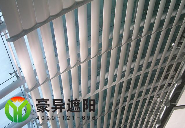 玻璃顶外铝合金电动遮阳百叶