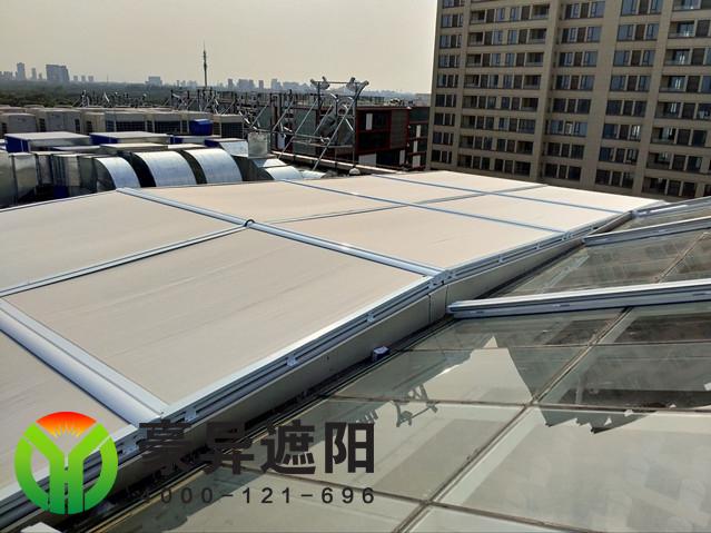 大型玻璃顶电动遮阳天棚帘
